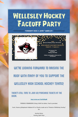 Wellesley Hockey Faceoff Party