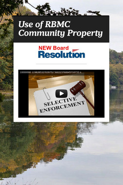 Use of RBMC Community Property