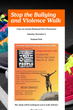 Stop the Bullying and Violence Walk