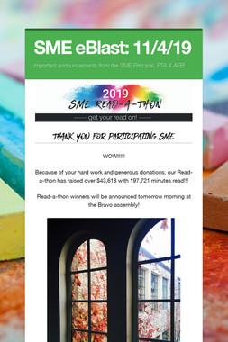 SME eBlast: 11/4/19