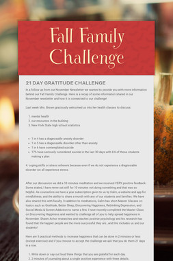 Fall Family Challenge