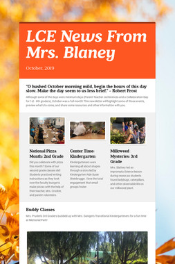 LCE News From Mrs. Blaney