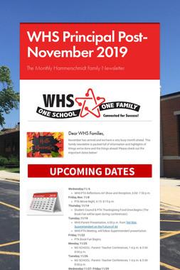 WHS Principal Post- November 2019