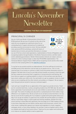 Lincoln's November Newsletter