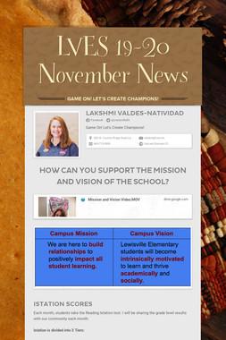LVES 19-20 November News