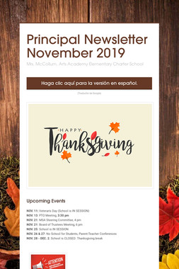 Principal Newsletter November 2019