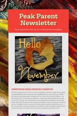 Peak Parent  Newsletter