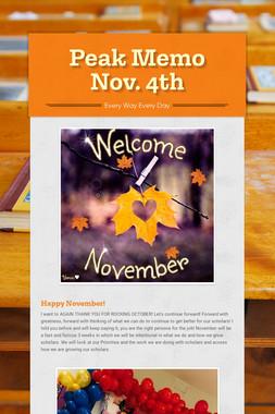 Peak Memo Nov. 4th