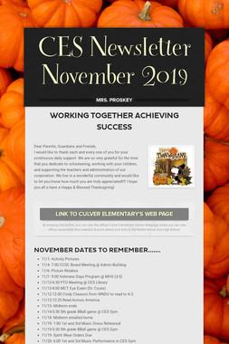 CES Newsletter November 2019