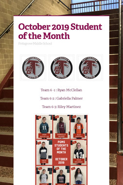 October 2019 Student of the Month