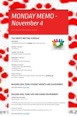 MONDAY MEMO - November 4