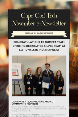 Cape Cod Tech November e-Newsletter