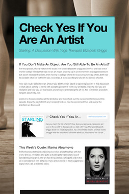 Check Yes If You Are An Artist