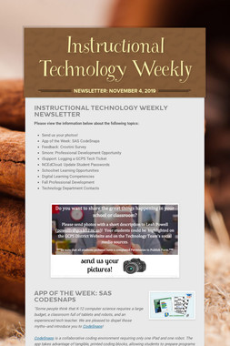 Instructional Technology Weekly