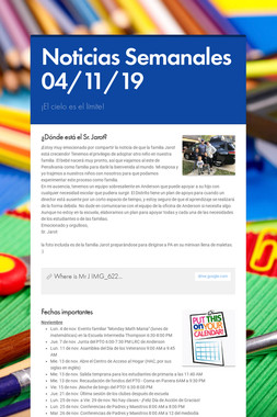 Noticias Semanales 04/11/19