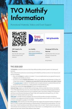Mathify Information