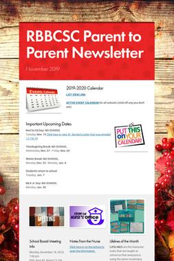 RBBCSC Parent to Parent Newsletter