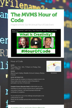 The MVMS Hour of Code
