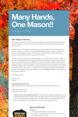 Many Hands, One Mason!!