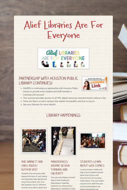 Alief Libraries Are For Everyone