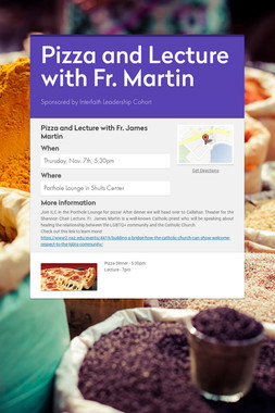 Pizza and Lecture with Fr. Martin
