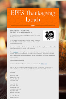 BPES Thanksgiving Lunch