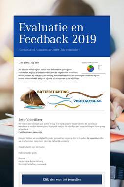 Evaluatie en Feedback 2019