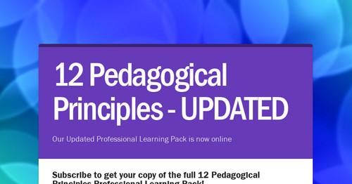12 Pedagogical Principles