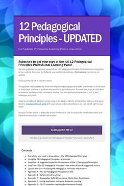 12 Pedagogical Principles - UPDATED