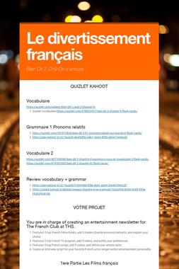 Le divertissement français
