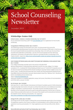 School Counseling Newsletter