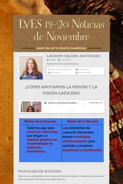 LVES 19-20 Noticias de Noviembre
