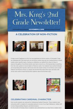 Mrs. King's 2nd Grade Newsletter!