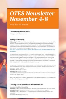 OTES Newsletter November 4-8