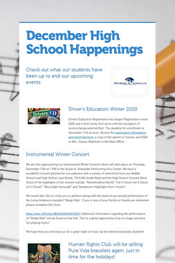 December High School Happenings