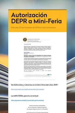 Autorización DEPR a Mini-Feria