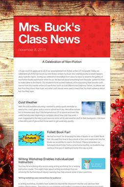 Mrs. Buck's Class News