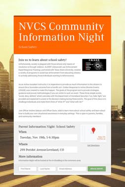 NVCS Community Information Night