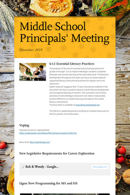 Middle School Principals' Meeting