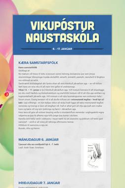 Vikpóstur Naustaskóla