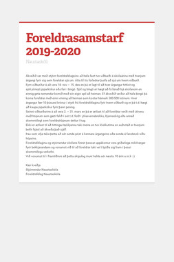 Foreldrasamstarf 2019-2020