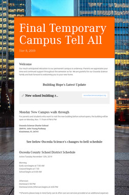 Final Temporary Campus Tell All