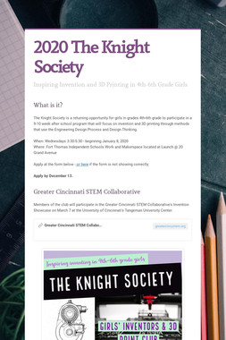 2020 The Knight Society