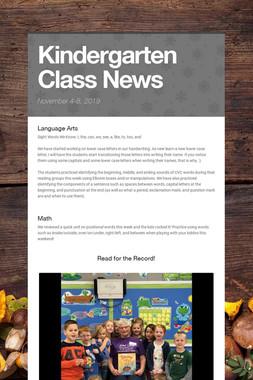 Kindergarten Class News