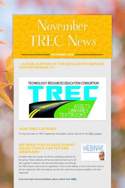 November TREC News