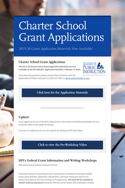 Charter School Grant Applications