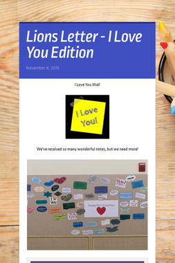 Lions Letter - I Love You Edition