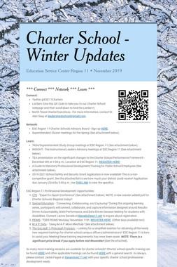 Charter School -     Winter Updates