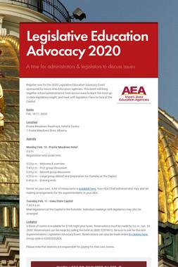 Legislative Education Advocacy 2020