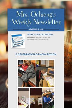 Mrs. Ochieng's Weekly Newsletter
